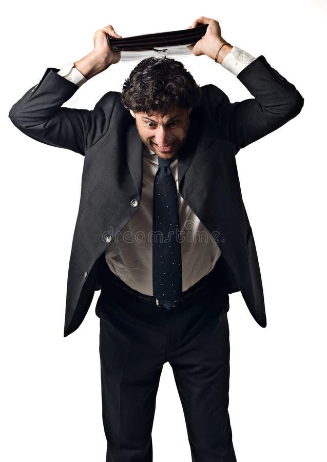 Homem de negócios furioso foto de stock
