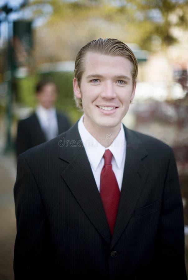 Homem de negócios genuíno fotografia de stock royalty free