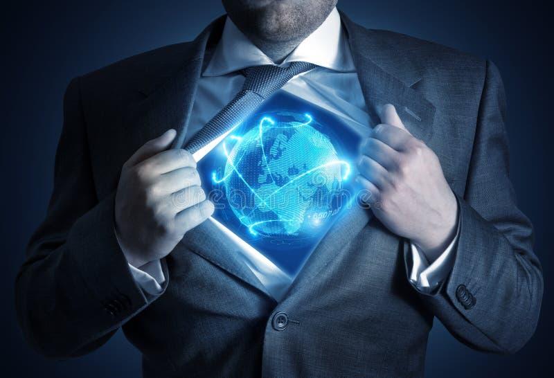 Homem de negócios global imagens de stock