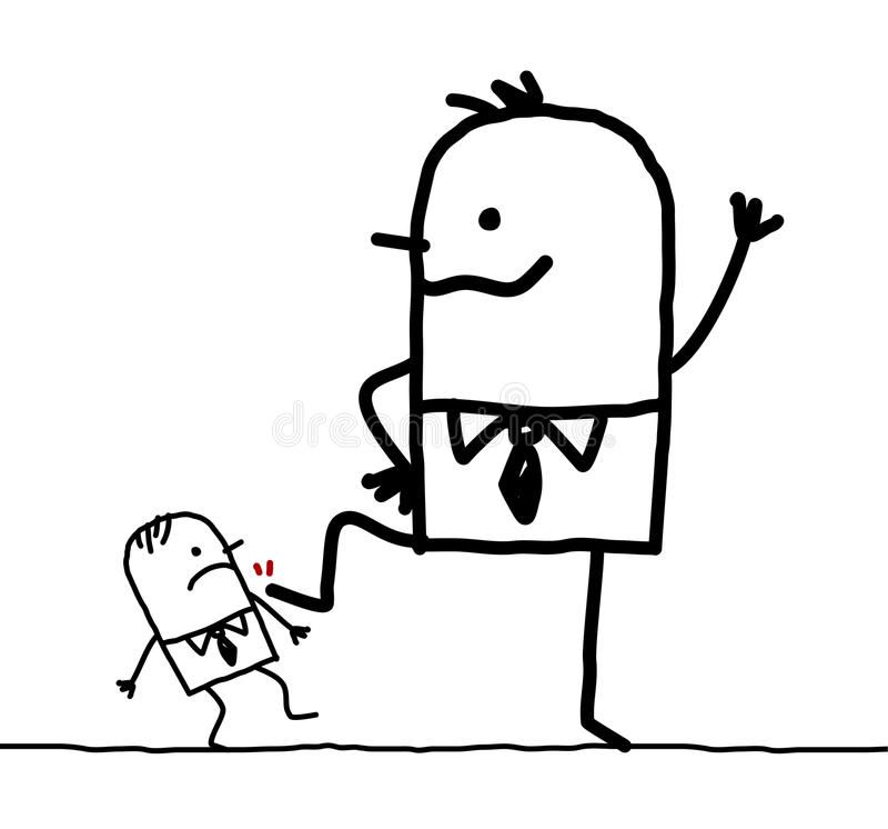 Homem de negócios grande & o pequeno ilustração stock