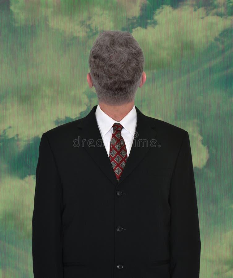 Homem de negócios Head Backwards, negócio, vendas fotografia de stock
