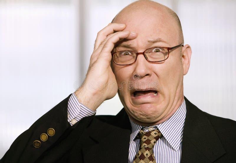 Homem de negócios horrorizado imagem de stock
