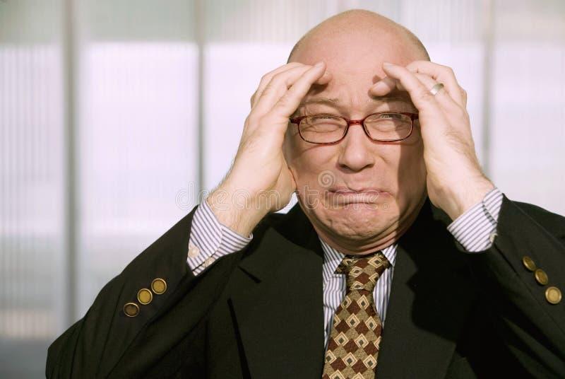 Homem de negócios horrorizado foto de stock royalty free