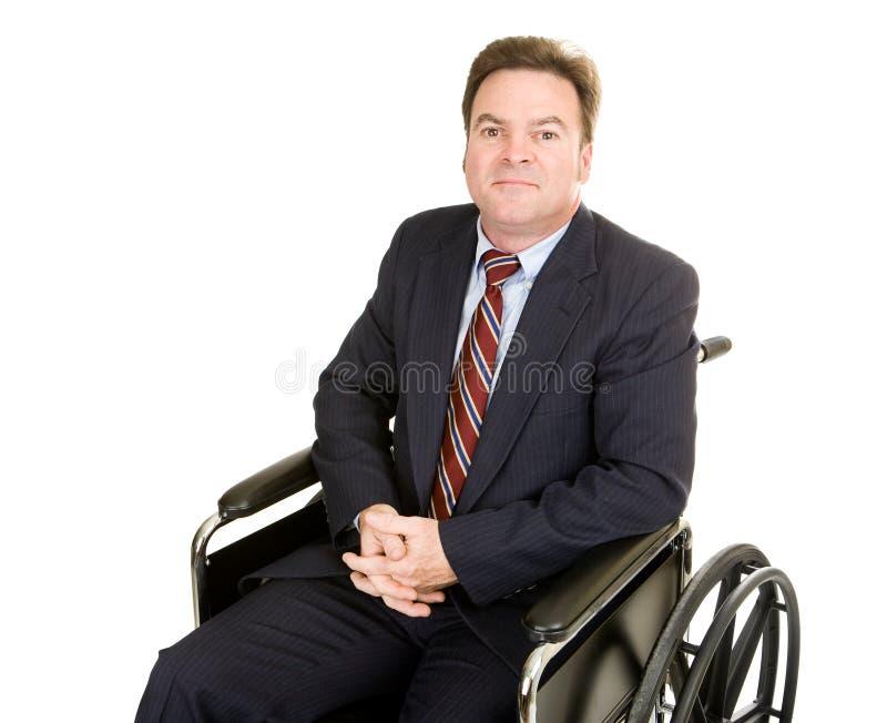 Homem de negócios incapacitado - dignidade fotografia de stock royalty free