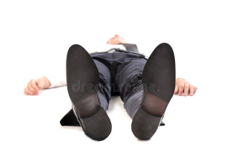 Homem de negócios inconsciente imagens de stock
