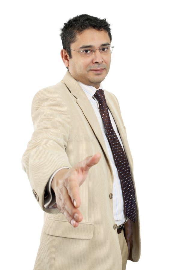 Homem de negócios indiano foto de stock