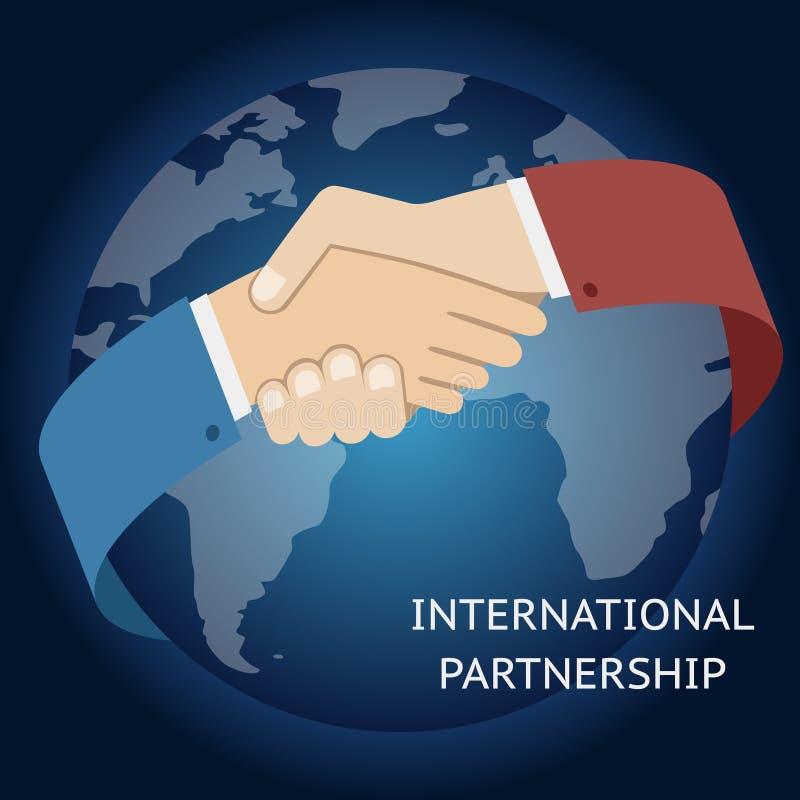 Homem de negócios internacional do ícone da parceria ilustração royalty free