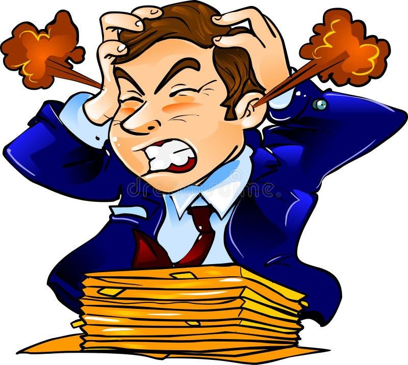 Homem de negócios irritado ilustração do vetor