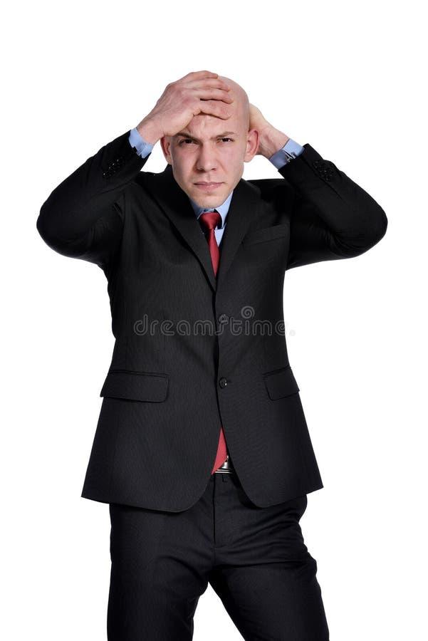 Homem de negócios irritado fotos de stock