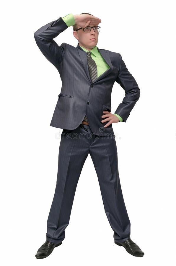 Homem de negócios isolado no fundo branco fotos de stock royalty free
