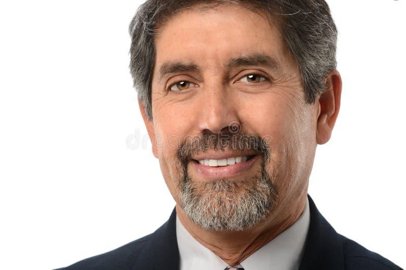 Homem de negócios latino-americano fotografia de stock