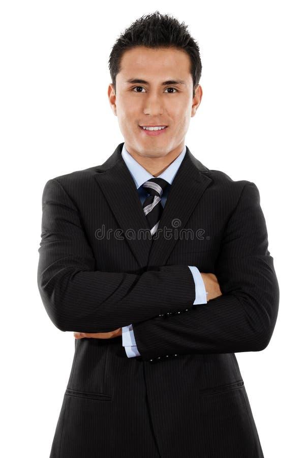 Homem de negócios latino-americano novo imagens de stock