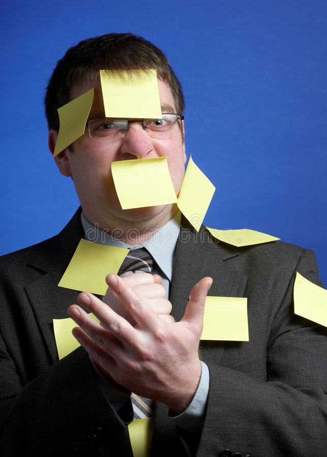 Homem de negócios louco foto de stock royalty free