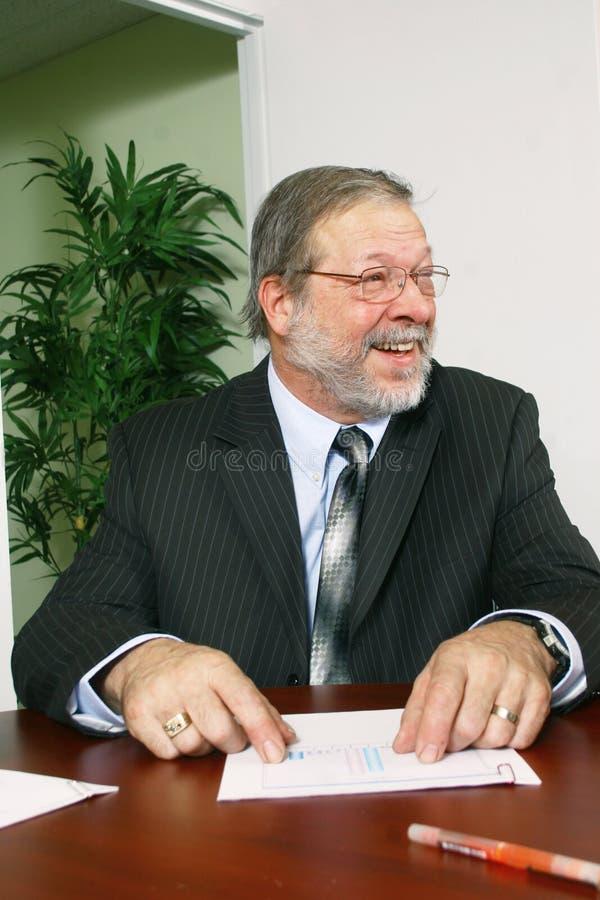 Homem de negócios maduro imagens de stock