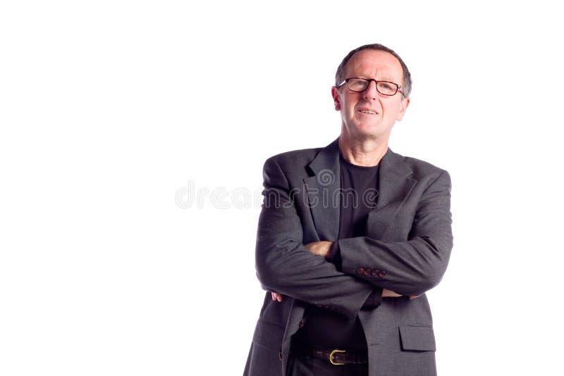 Homem de negócios maduro foto de stock royalty free
