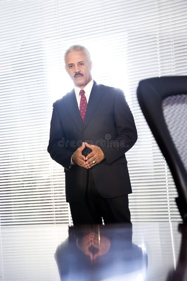 Homem de negócios maduro do americano africano fotografia de stock
