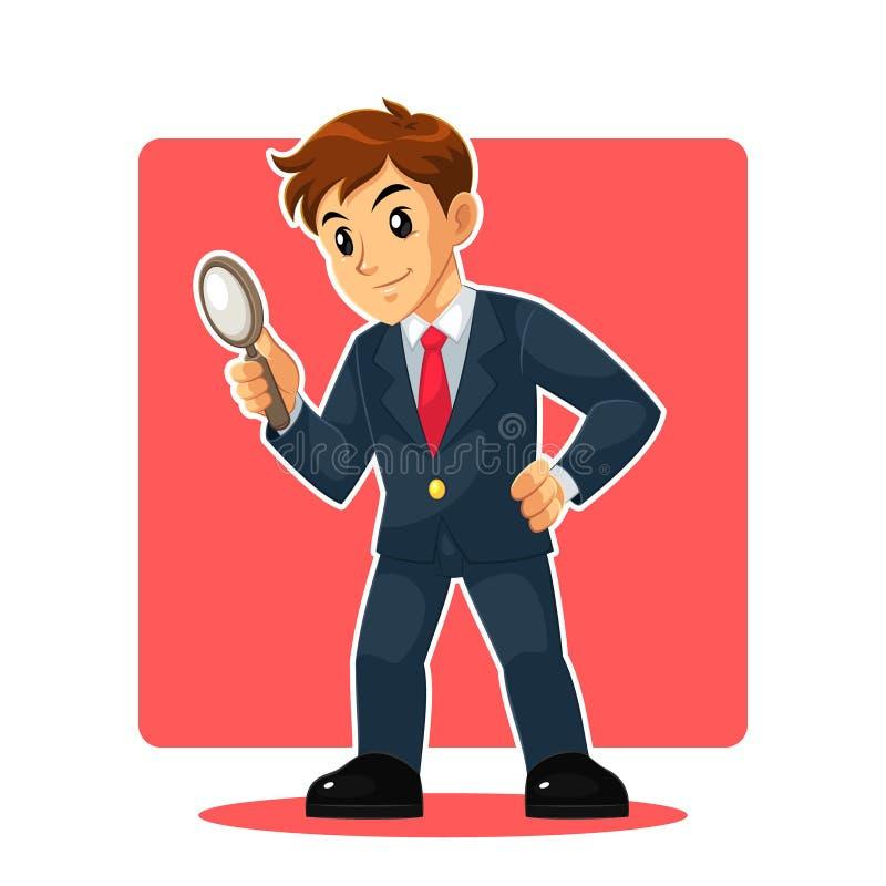 Homem de negócios Mascot Character foto de stock
