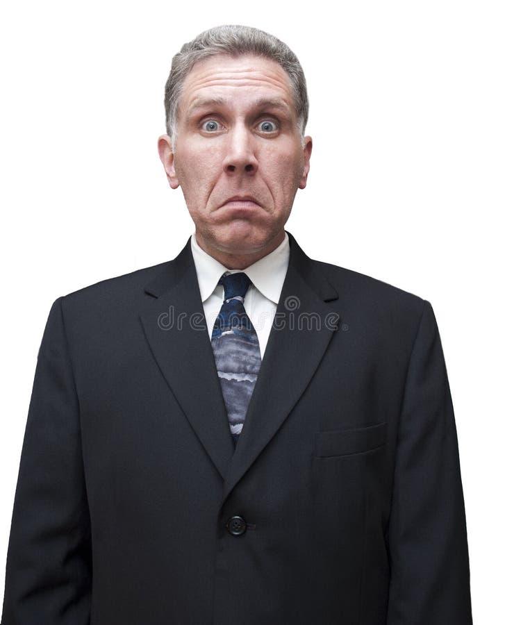 Homem de negócios masculino do homem triste infeliz isolado imagens de stock royalty free