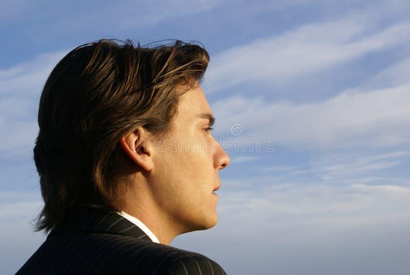 Homem de negócios masculino novo fotografia de stock royalty free