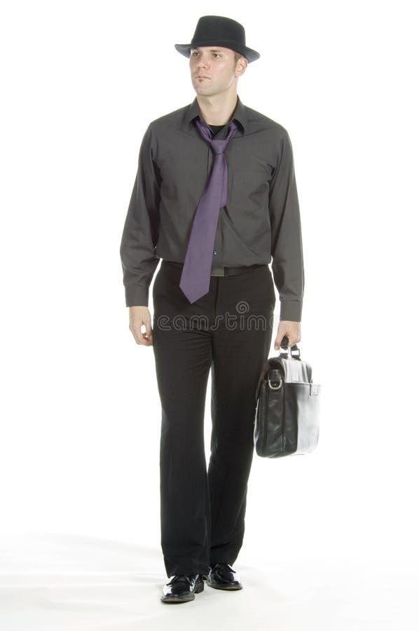 Homem de negócios moderado fotografia de stock