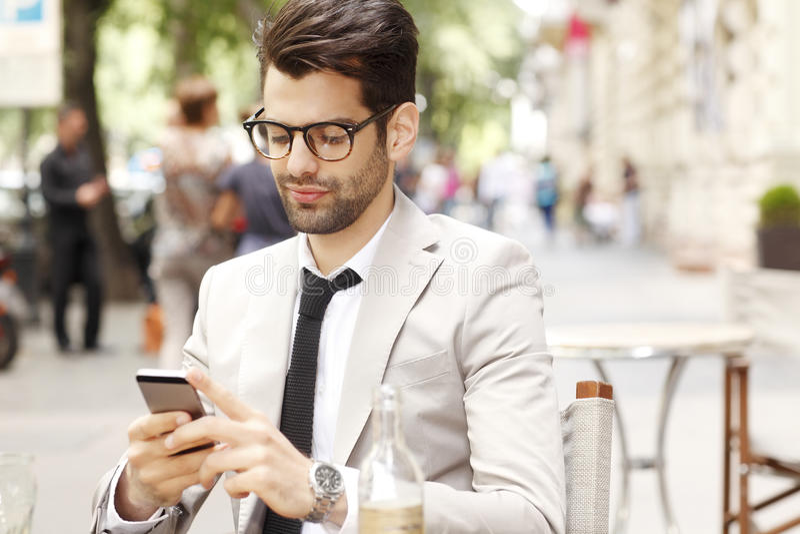 Homem de negócios moderno Portrait imagens de stock royalty free