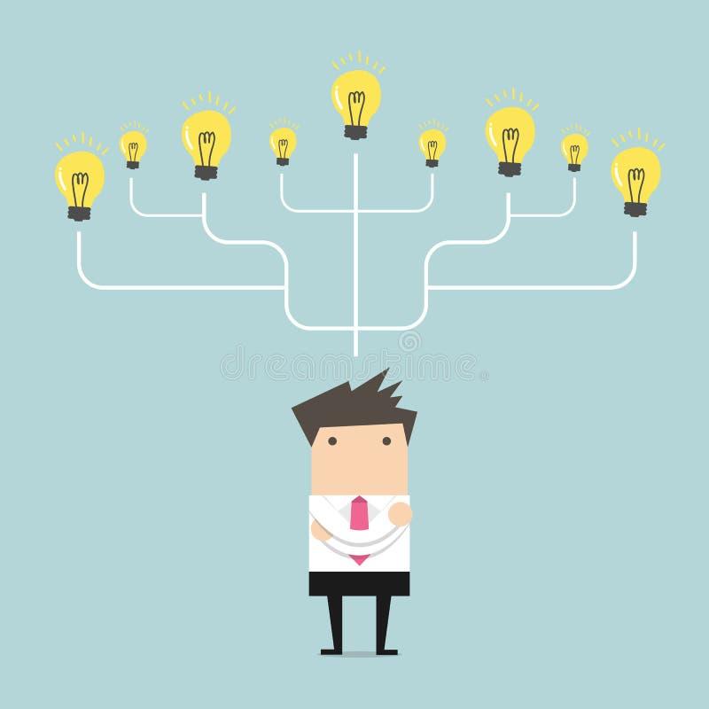 Homem de negócios muito ideia ao conceito do sucesso ilustração do vetor