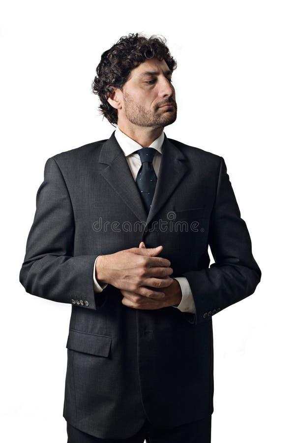 Homem de negócios muito importante imagem de stock royalty free