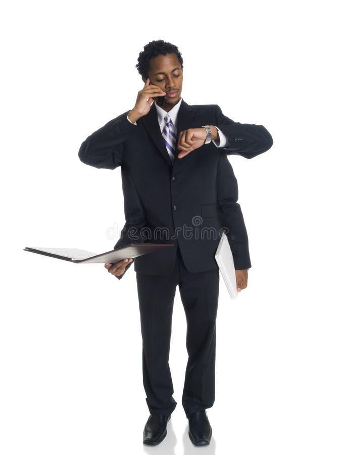 Homem de negócios - multitasker ocupado fotografia de stock royalty free