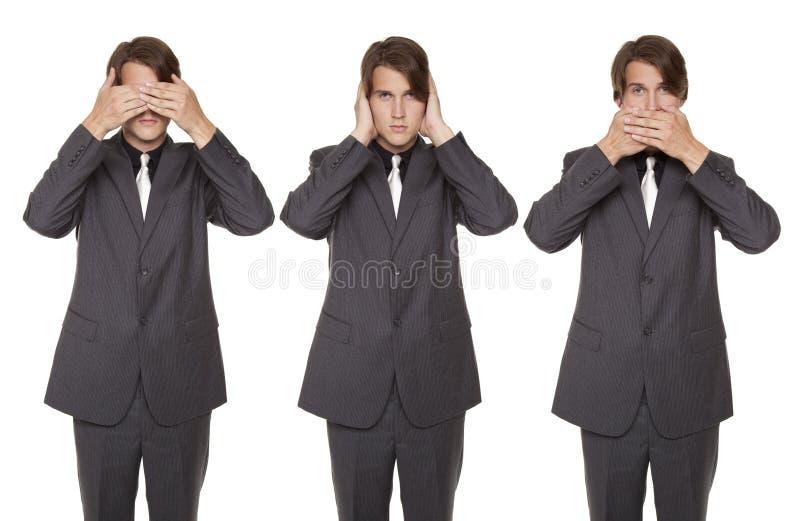 Homem de negócios - não fale nenhum mal fotos de stock