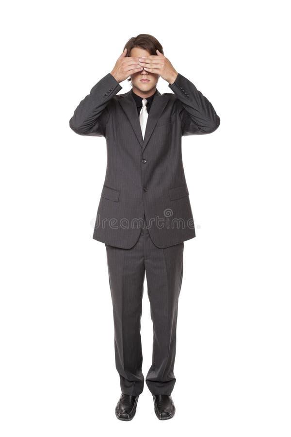 Homem de negócios - não veja nenhum mal imagens de stock