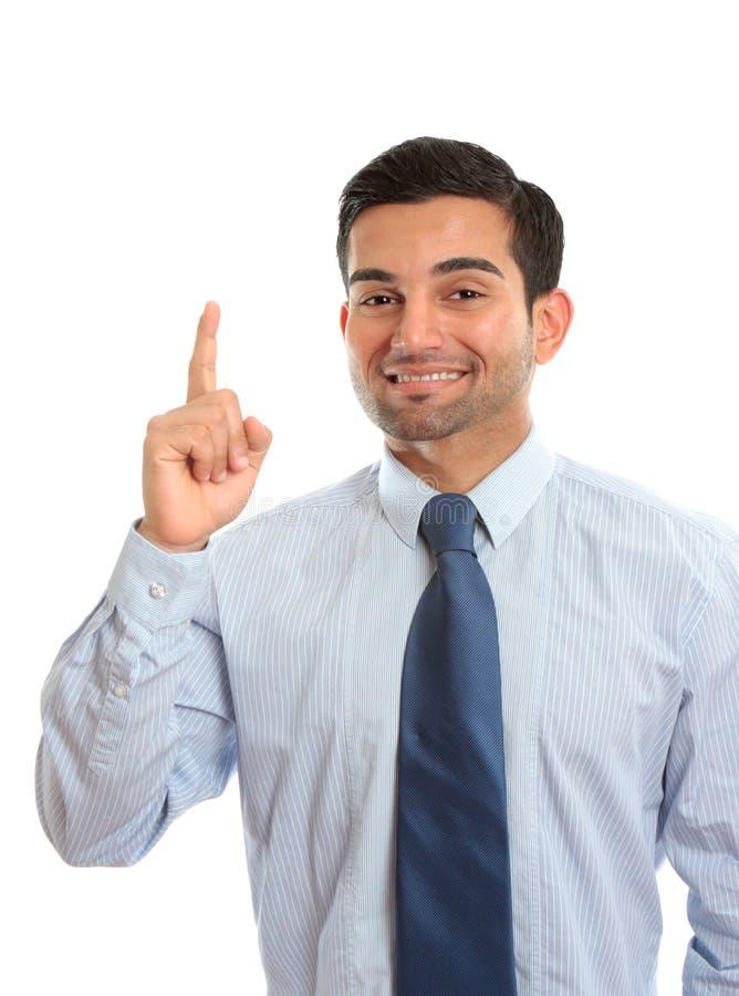 Homem de negócios número um imagens de stock royalty free