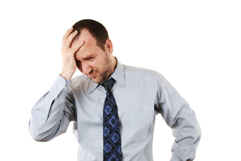 Homem de negócios na depressão imagens de stock royalty free