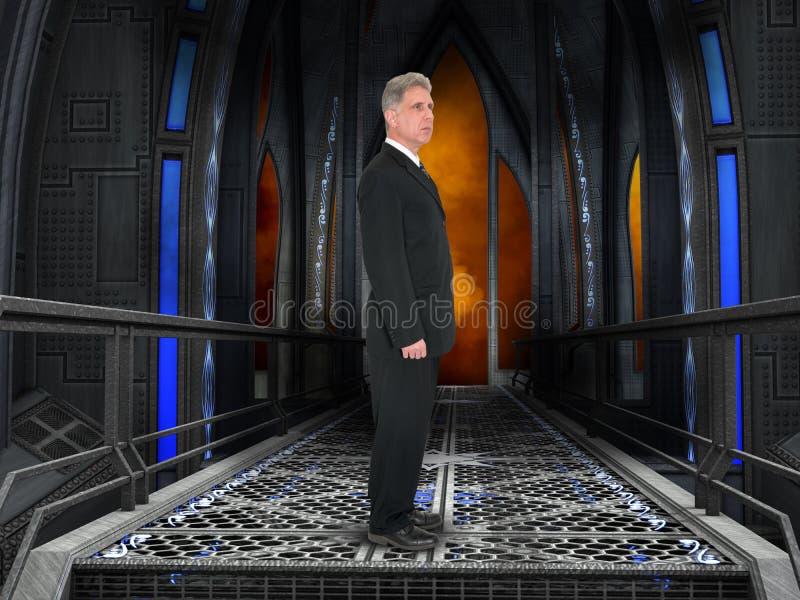 Homem de negócios, negócio, sala da tecnologia foto de stock
