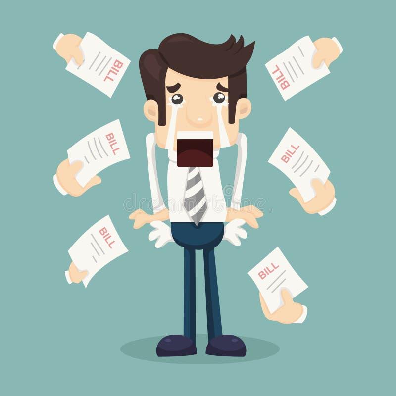 Homem de negócios nenhum dinheiro ilustração royalty free