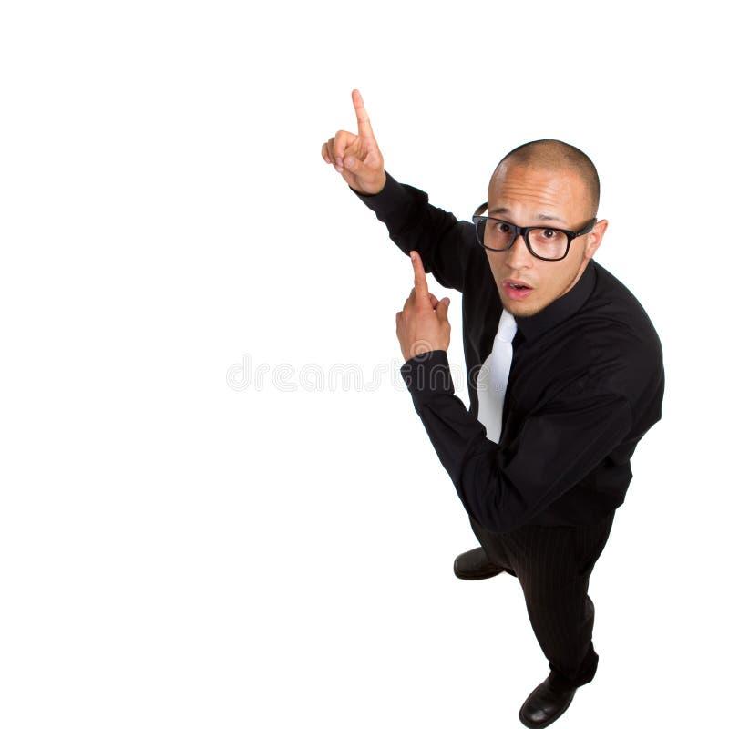 Homem de negócios nerdy novo fotos de stock royalty free