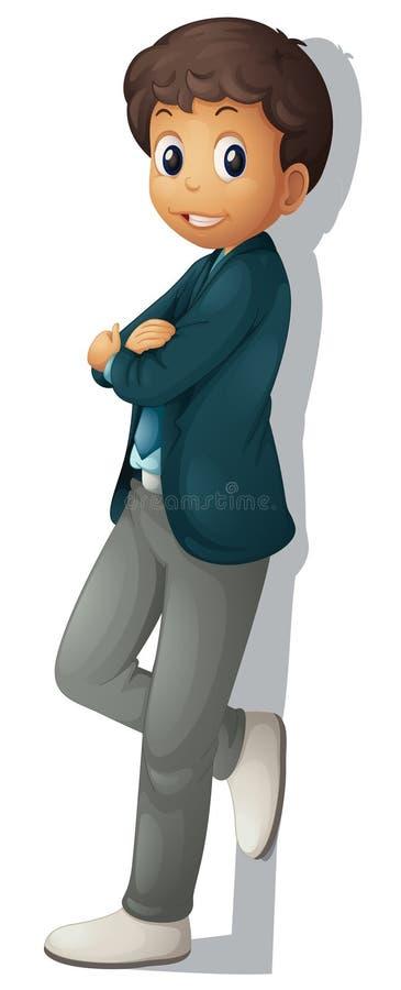 Homem de negócios no branco ilustração royalty free