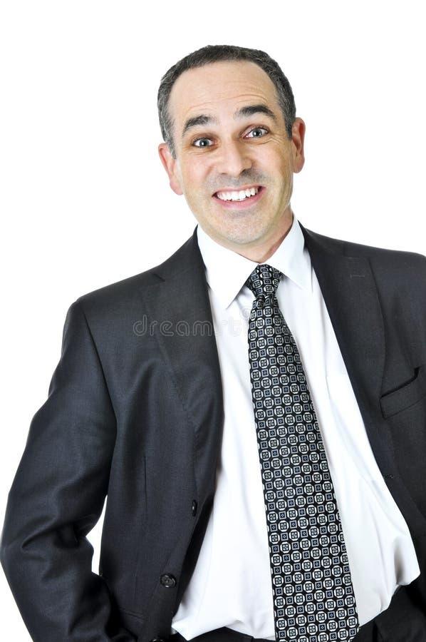 Homem de negócios no fundo branco imagem de stock royalty free