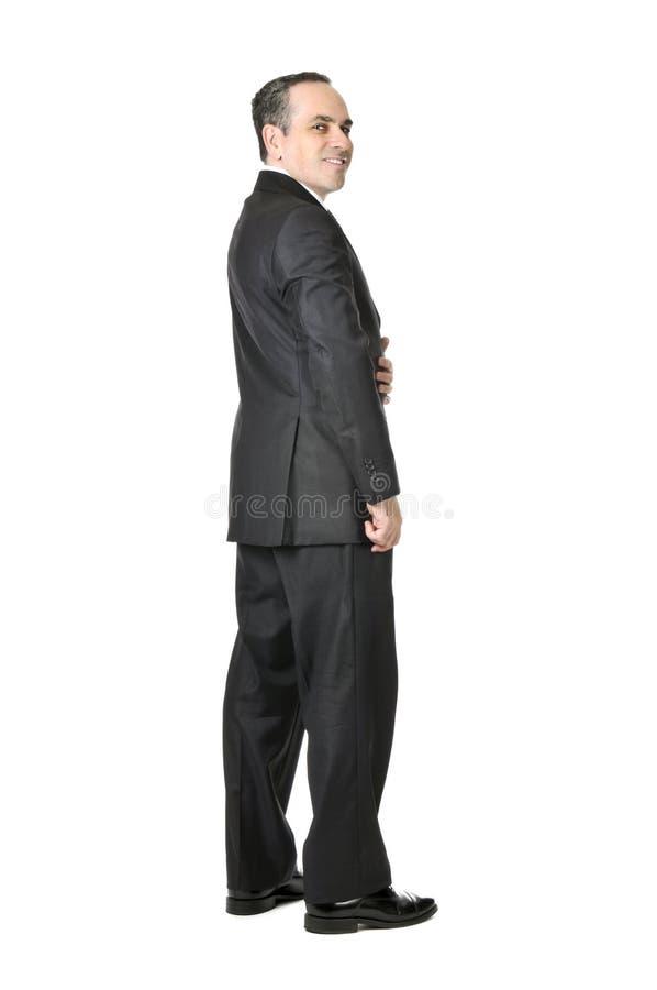 Homem de negócios no fundo branco foto de stock