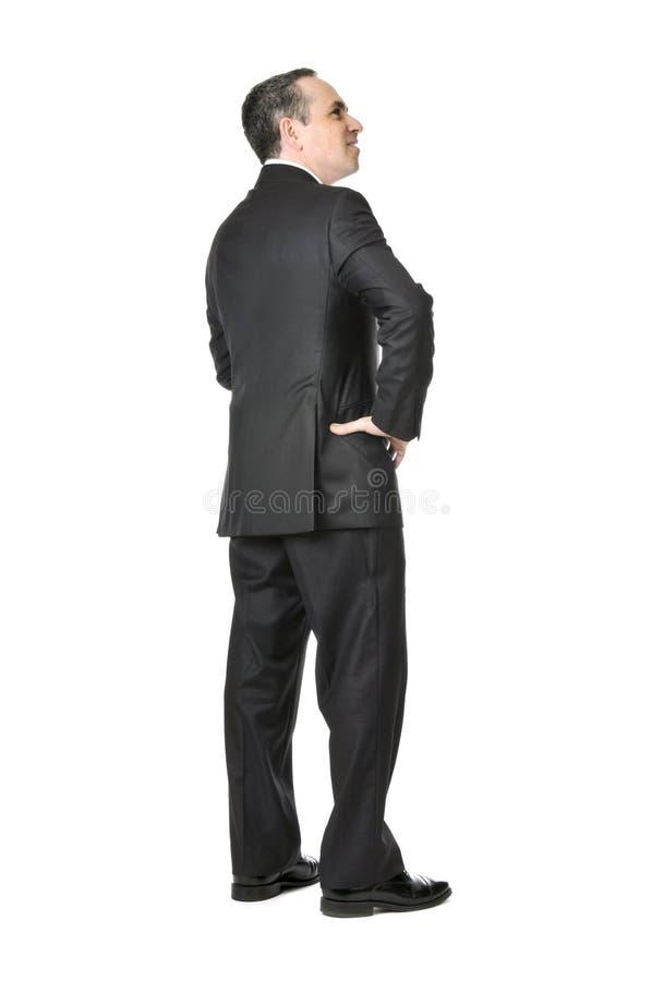 Homem de negócios no fundo branco fotografia de stock royalty free
