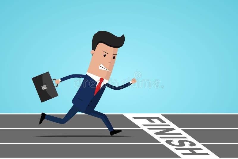 Homem de negócios no meta   ilustração royalty free