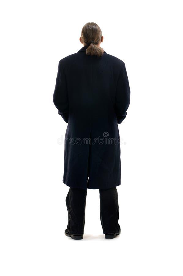 Homem de negócios no revestimento imagens de stock