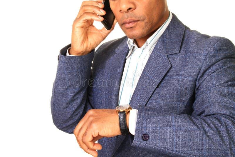 Homem de negócios no telefone fotografia de stock royalty free