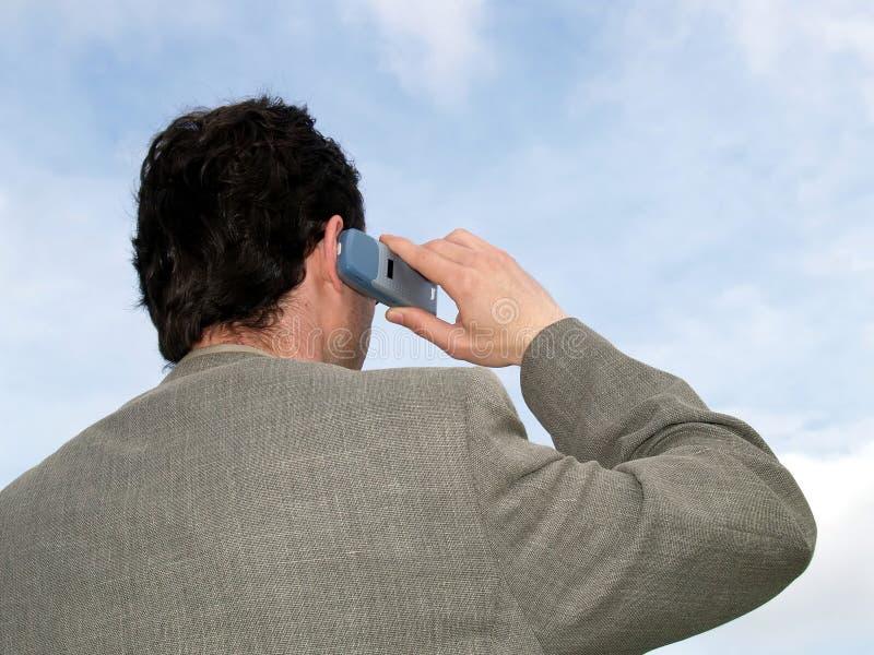 Homem de negócios no telefone fotos de stock