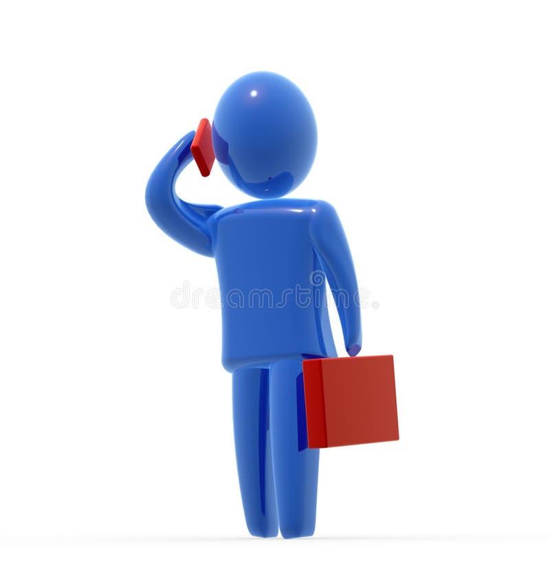 Homem de negócios no telefone ilustração do vetor