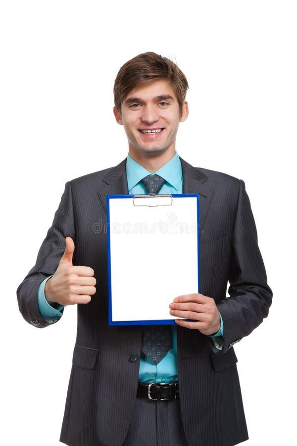 Homem de negócios novo fotografia de stock royalty free