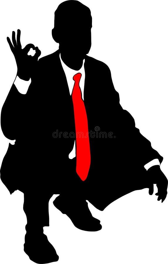Homem de negócios novo ilustração royalty free