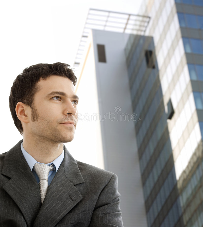 Homem de negócios novo foto de stock royalty free
