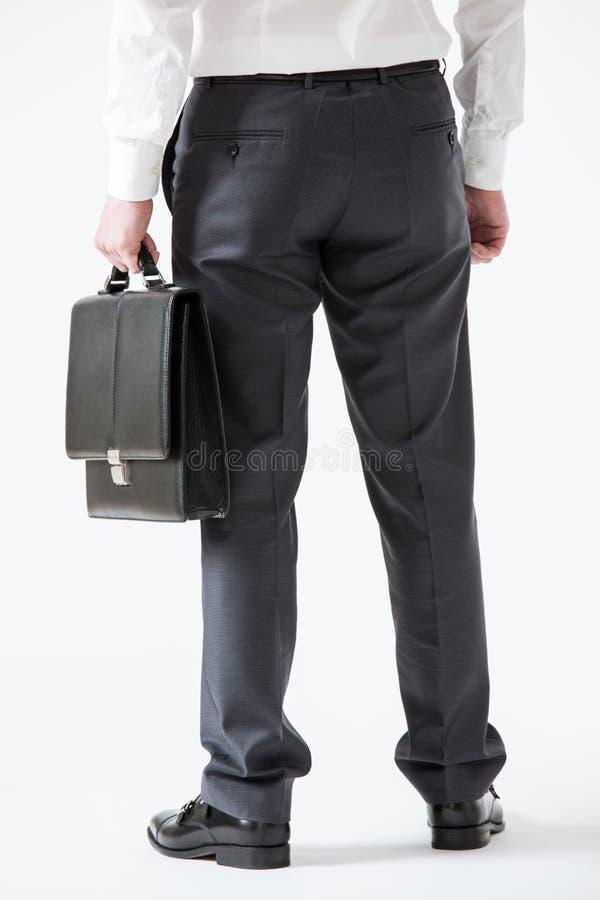 Homem de negócios novo assegurado irreconhecível imagem de stock royalty free