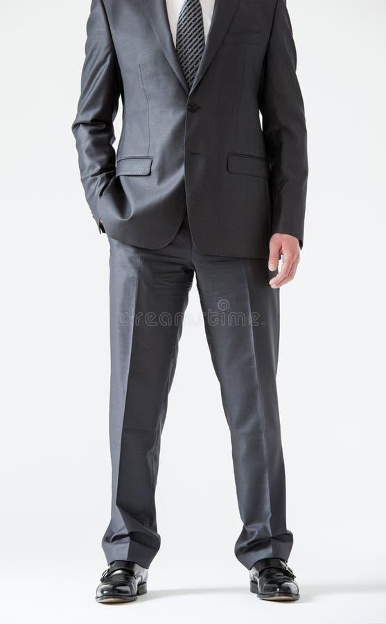 Homem de negócios novo assegurado irreconhecível fotografia de stock royalty free
