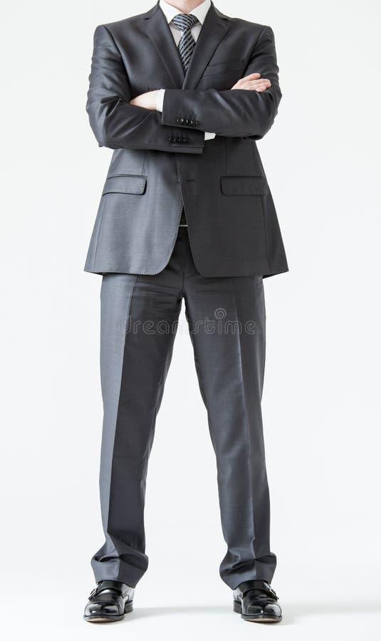 Homem de negócios novo assegurado irreconhecível foto de stock royalty free